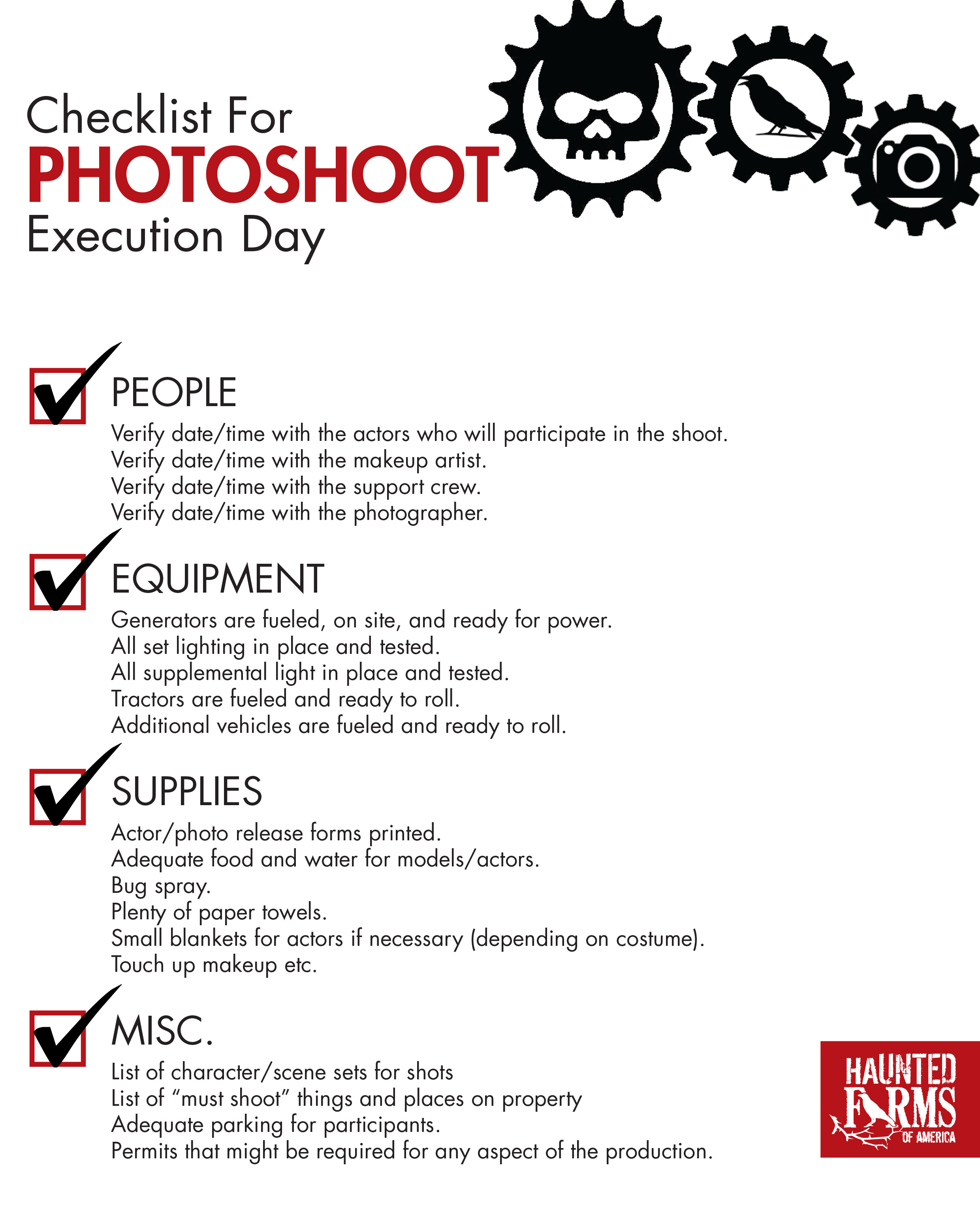 This Photoshoot Checklist will help you get organized. Ready to print and use today!